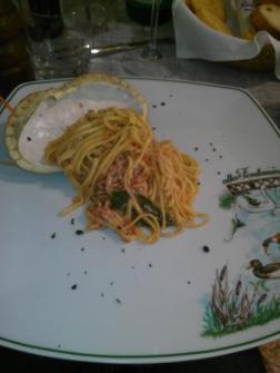 Tagliolini al Granchio(crab sauce) at Alla Fontaniva
