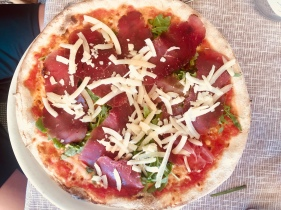 Braesola, Rucola, and Grana Pizza