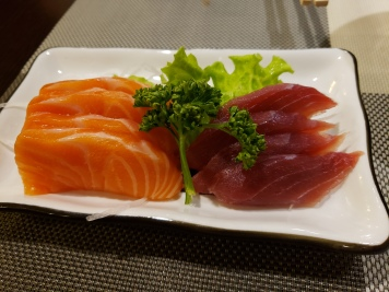 tuna and red snapper sashimi